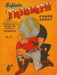 Cover Thumbnail for Captain Triumph Comics (K. G. Murray, 1947 series) #13