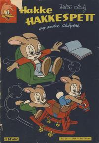 Cover Thumbnail for Hakke Hakkespett og andre skøyere (Serieforlaget / Se-Bladene / Stabenfeldt, 1959 series) #20/1959