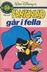 Cover Thumbnail for Donald Pocket (Hjemmet / Egmont, 1968 series) #34 - Fantonald går i fella [1. opplag]