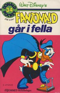 Cover Thumbnail for Donald Pocket (Hjemmet / Egmont, 1968 series) #34 - Fantonald går i fella [2. opplag]