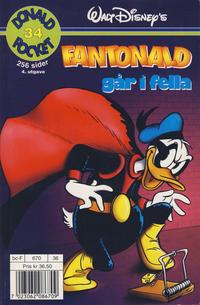 Cover Thumbnail for Donald Pocket (Hjemmet / Egmont, 1968 series) #34 - Fantonald går i fella [4. opplag]