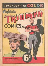 Cover Thumbnail for Captain Triumph Comics (K. G. Murray, 1947 series) #1