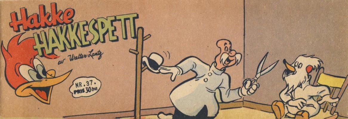 Cover for Hakke Hakkespett (Serieforlaget / Se-Bladene / Stabenfeldt, 1957 series) #37/1958