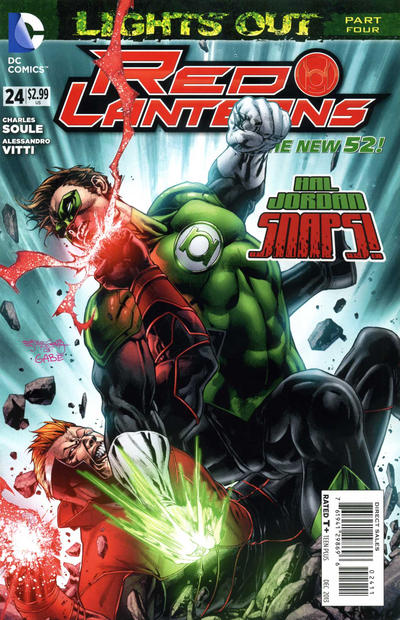 Cover for Red Lanterns (DC, 2011 series) #24