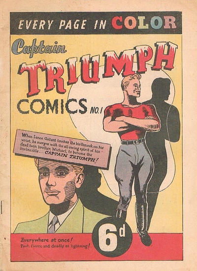 Cover for Captain Triumph Comics (K. G. Murray, 1947 series) #1