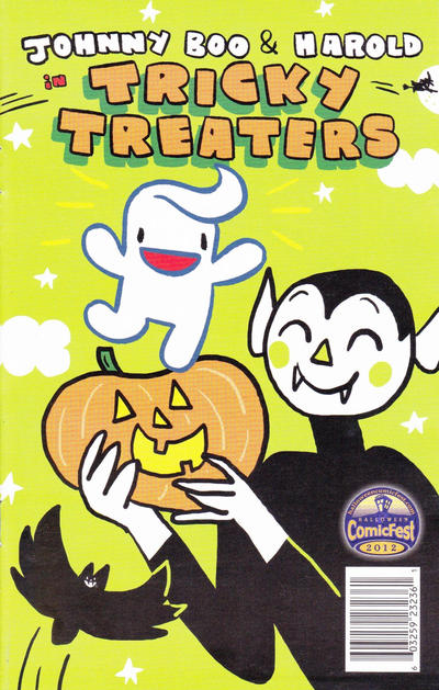 Cover for Johnny Boo & Harold in Tricky Treaters (Top Shelf, 2012 series)