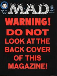 Cover for MAD (EC, 1952 series) #73
