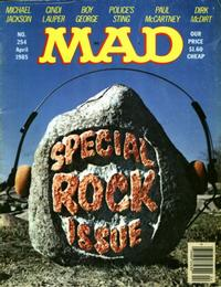 Cover Thumbnail for MAD (EC, 1952 series) #254 [$1.60 Cover Price]