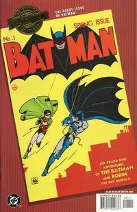 Cover Thumbnail for Millennium Edition: Batman No. 1 (DC, 2001 series)