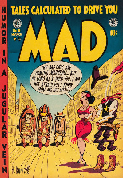 Cover for MAD (EC, 1952 series) #9