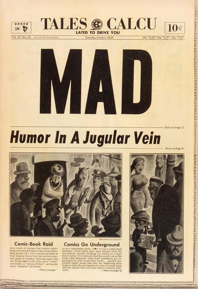Cover for MAD (EC, 1952 series) #16