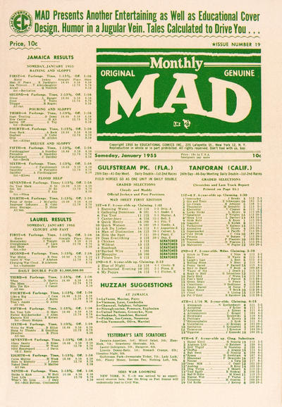 Cover for MAD (EC, 1952 series) #19