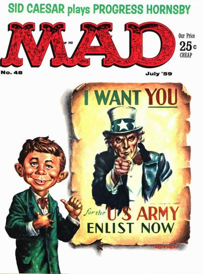 Cover for MAD (EC, 1952 series) #48