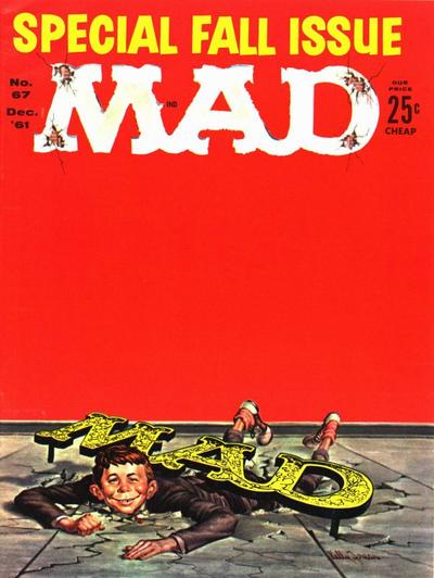 Cover for MAD (EC, 1952 series) #67