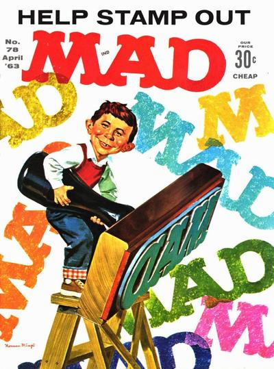 Cover for MAD (EC, 1952 series) #78 [25 cent cover]