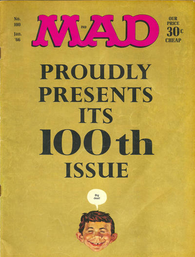 Cover for MAD (EC, 1952 series) #100