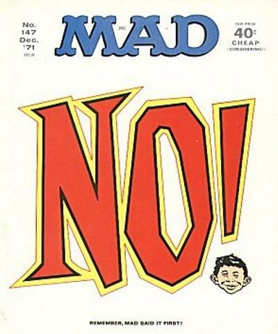 Cover for MAD (EC, 1952 series) #147