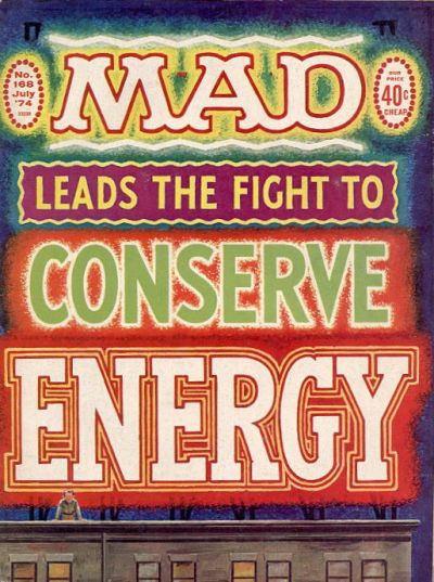 Cover for MAD (EC, 1952 series) #168
