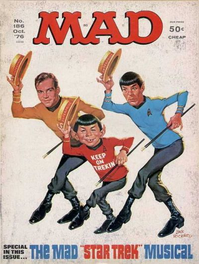 Cover for MAD (EC, 1952 series) #186