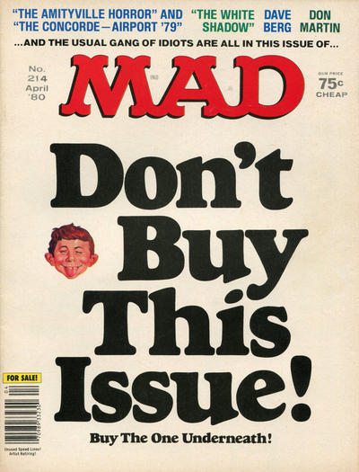 Cover for MAD (EC, 1952 series) #214