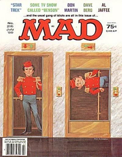 Cover for MAD (EC, 1952 series) #216