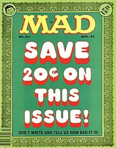 Cover for MAD (EC, 1952 series) #237
