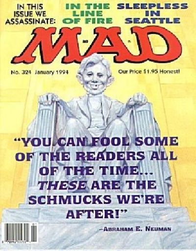 Cover for MAD (EC, 1952 series) #324