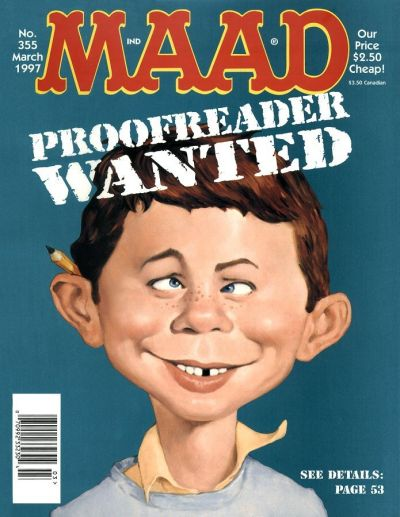 Cover for MAD (EC, 1952 series) #355