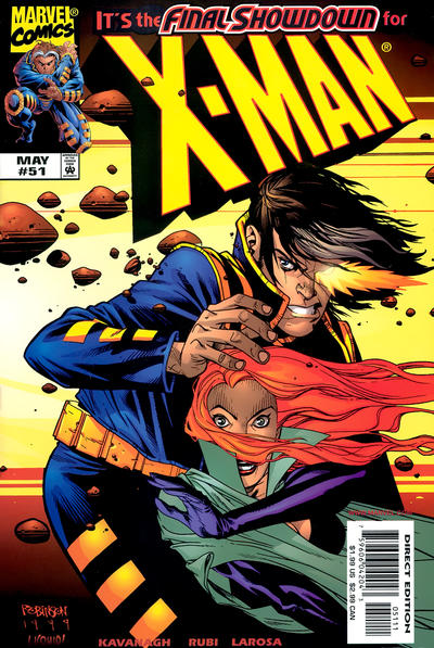 Cover for X-Man (Marvel, 1995 series) #51 [Direct Edition]