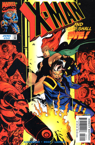 Cover for X-Man (Marvel, 1995 series) #52 [Direct Edition]