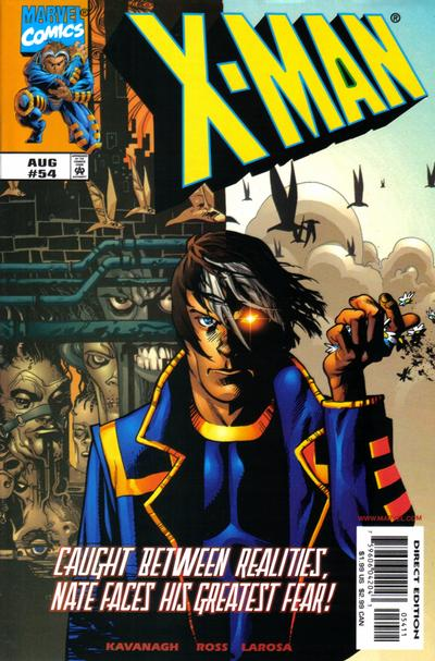 Cover for X-Man (Marvel, 1995 series) #54 [Direct Edition]