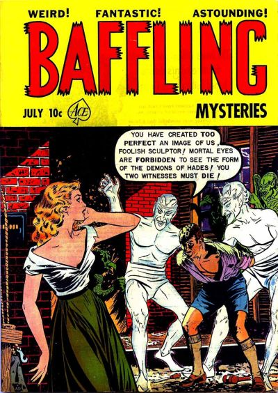 Cover for Baffling Mysteries (Ace Magazines, 1951 series) #9