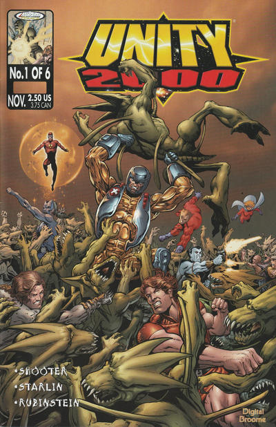 Cover for Unity 2000 (Acclaim / Valiant, 1999 series) #1 [Regular Cover]