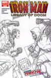 Cover for Iron Man: Legacy of Doom (Marvel, 2008 series) #1 [NYCC 2008 Exclusive Sketch Variant Cover by Ron Lim]