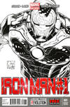 Cover Thumbnail for Iron Man (2013 series) #1 [Variant Black & White Cover by Joe Quesada]