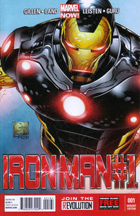 Cover Thumbnail for Iron Man (Marvel, 2013 series) #1 [Variant Cover by Joe Quesada]