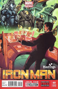 Cover Thumbnail for Iron Man (Marvel, 2013 series) #1 [Hastings Exclusive Variant Cover by Carlo Pagulayan]