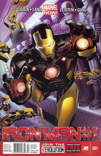 Cover Thumbnail for Iron Man (Marvel, 2013 series) #1 [Newsstand Edition by Greg Land]