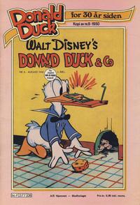 Cover Thumbnail for Donald Duck for 30 år siden (Hjemmet / Egmont, 1978 series) #8/1980