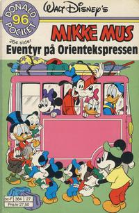 Cover Thumbnail for Donald Pocket (Hjemmet / Egmont, 1968 series) #96 - Mikke Mus Eventyr på Orientekspressen [Reutsendelse]