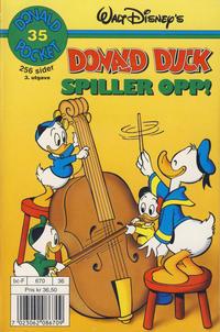 Cover Thumbnail for Donald Pocket (Hjemmet / Egmont, 1968 series) #35 - Donald Duck spiller opp! [3. opplag]
