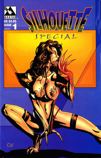 Cover for Silhouette Special (Avatar Press, 1997 series) #1 [Deluxe Nude Edition - Karl Walller]