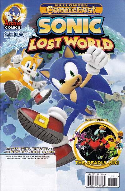 Cover for Sonic Lost World, Halloween Comic Fest Edition (Archie, 2013 series) #1