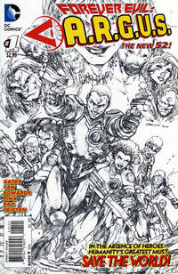 Cover Thumbnail for Forever Evil: A.R.G.U.S. (DC, 2013 series) #1 [Brett Booth Sketch Cover]