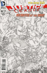 Cover Thumbnail for Justice League (DC, 2011 series) #18 [Sketch Variant Cover by Ivan Reis]