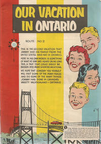 Cover for Our Vacation in Ontario (The Division of Publicity, Department of Travel and Publicity, 1954 ? series) #[nn]