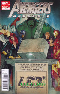 Cover for Avengers Assemble (Marvel, 2012 series) #1 [The Source Comics & Games Variant]