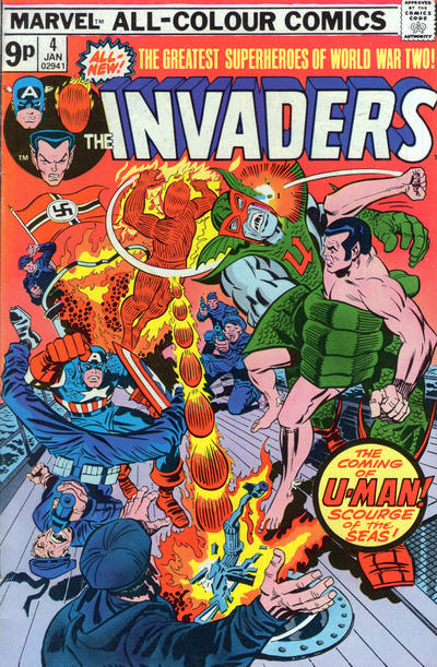 Cover for The Invaders (Marvel, 1975 series) #4 [British]