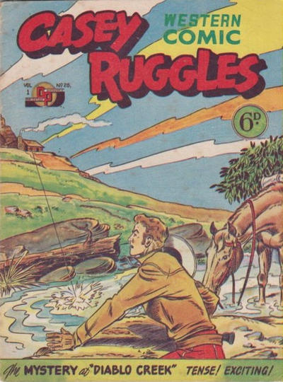 Cover for Casey Ruggles Western Comic (Donald F. Peters, 1951 series) #25