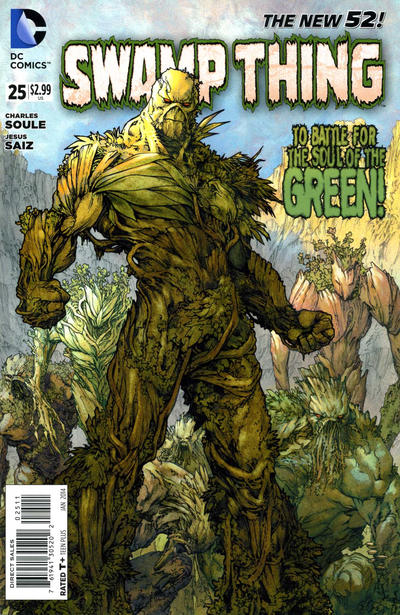 Cover for Swamp Thing (DC, 2011 series) #25
